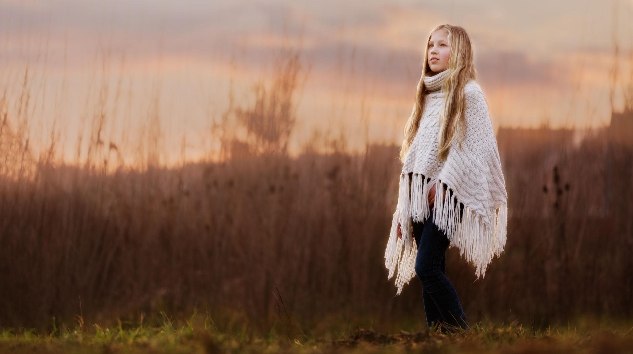 kinderfotografie Rotterdam meisje dame romantisch zonsondergang
